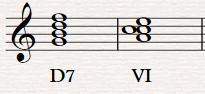 Разрешение доминантсептаккорда в шестую ступень